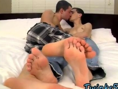 Gay teen munches on his boyfriends toes
