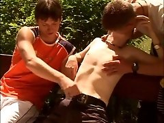 Three young dude tickles and fuck eachother- The French Connection