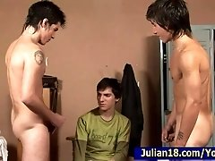 3 Young BoyFriends in the Locker Room