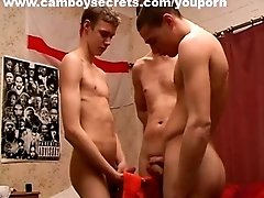 Three Gay Boys Jerking Off Together