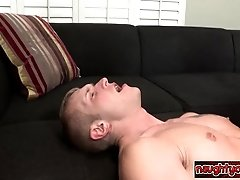 Hot twink anal riding