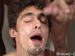 barebacked twink bukkaked blowjob