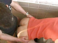 Amateur guys fucking in bathroom