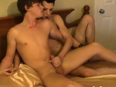 twinks sucking and wanking on the dick