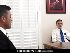 Handsome priest barebacks a young virgin missionary