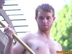 Interracial ginger twink rimmed before anal