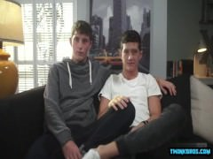 Hot twinks anal rimming and cum in ass