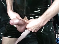 Horny Dick Pumping and Black Latex Fantasies