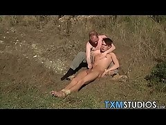 Gay amateur public outdoor blowjob