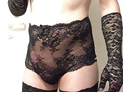 Sissy Teen SissySvenja95 showing in Highwaist Slip #4