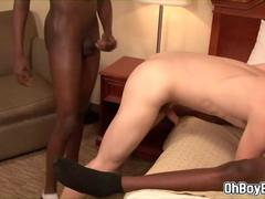 White boy double anal fucked by two black dudes