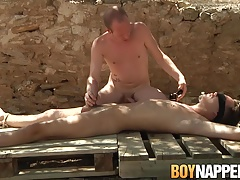 Sean Taylor has bondage sex with skinny Charley Cole