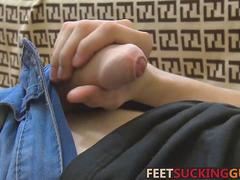 twink is wanking and has the hots for his boots