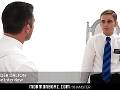 MormonBoyz - Naive boy stroked and milked by older priest